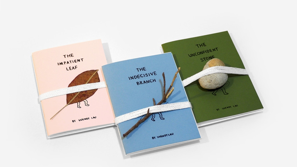 Project image for Stone, Branch & Leaf — Mini Book Set & Home Ornament
