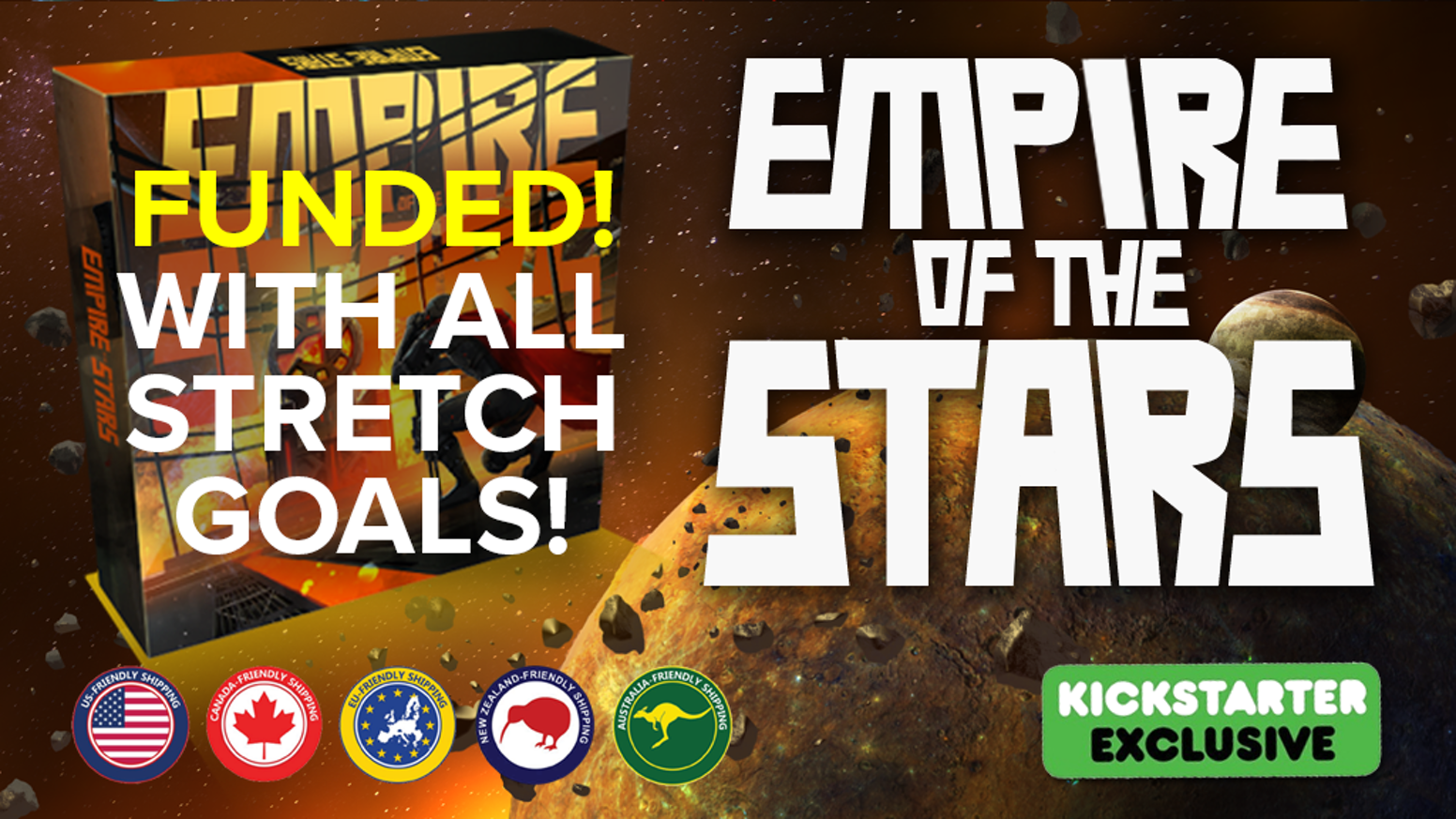 Empire of the Stars is a fast 4X board game of fantastic strategy and epic combat.