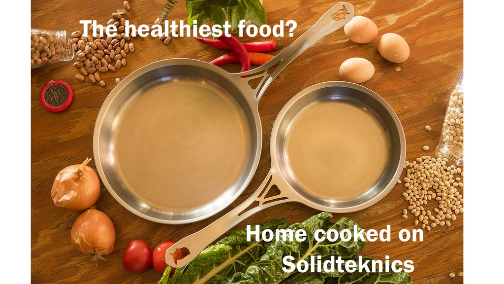 "SOLIDteknics 100% USA: safer+tougher 7.5"" stainless skillet project video thumbnail"