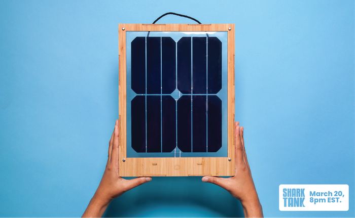 Charge your devices with this easy-to-install designer solar panel that hangs in your window.