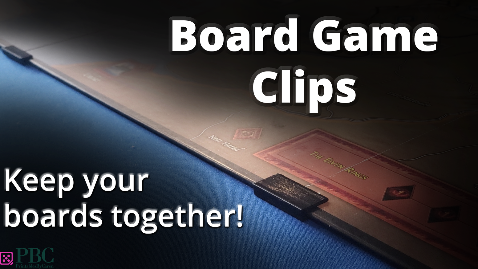 Clips that help keep your board game boards together.  Great for multi-board games and boards that don't like to stay put! Available at printablesbycaren.com and etsy.com/shop/PrintablesByCaren