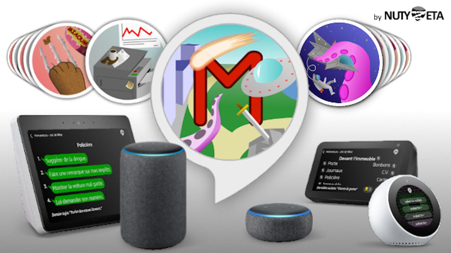 Un jeu d'aventures vocal pour Amazon Alexa (Echo), farci à l'humour décalé et à la sauce point & clic.