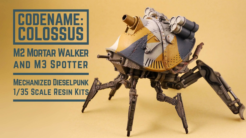 Project image for Codename Colossus M2 Mortar Walker 1/35 scale resin kit