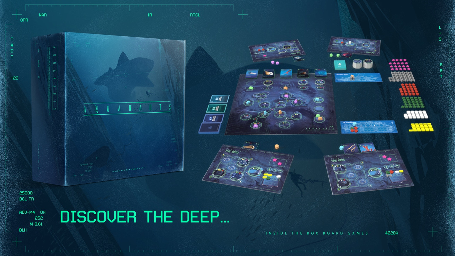 Build your research station in the ocean's twilight zone.  Discover the mysteries of life beneath the waves. Deploy the Aquanauts.