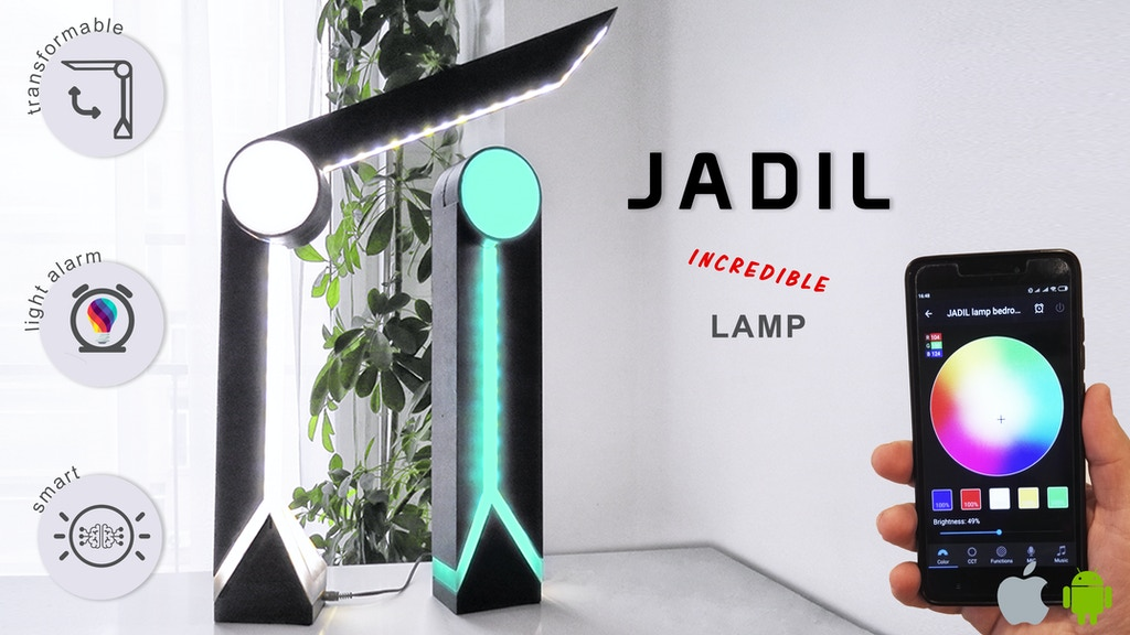 JADIL - smart, foldable, customizable lamp project video thumbnail