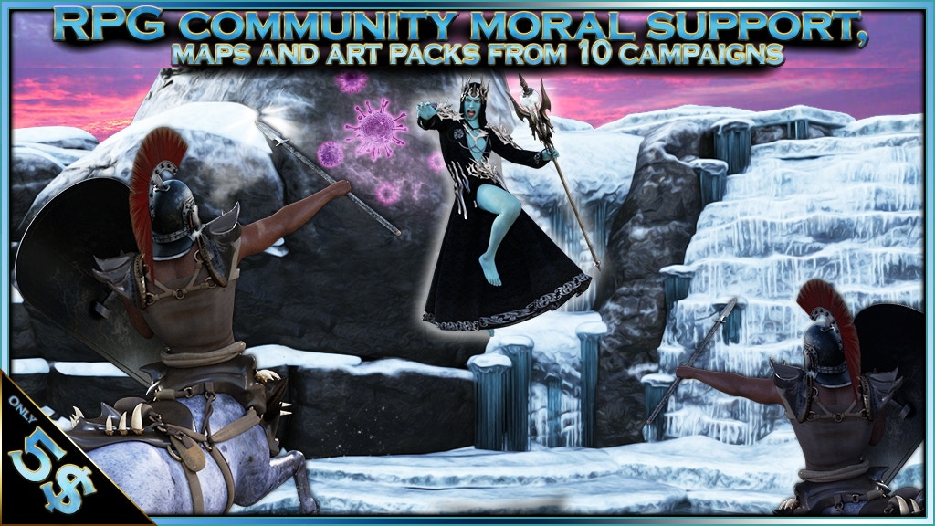 Project image for RPG community moral support, maps and art packs for 5$+