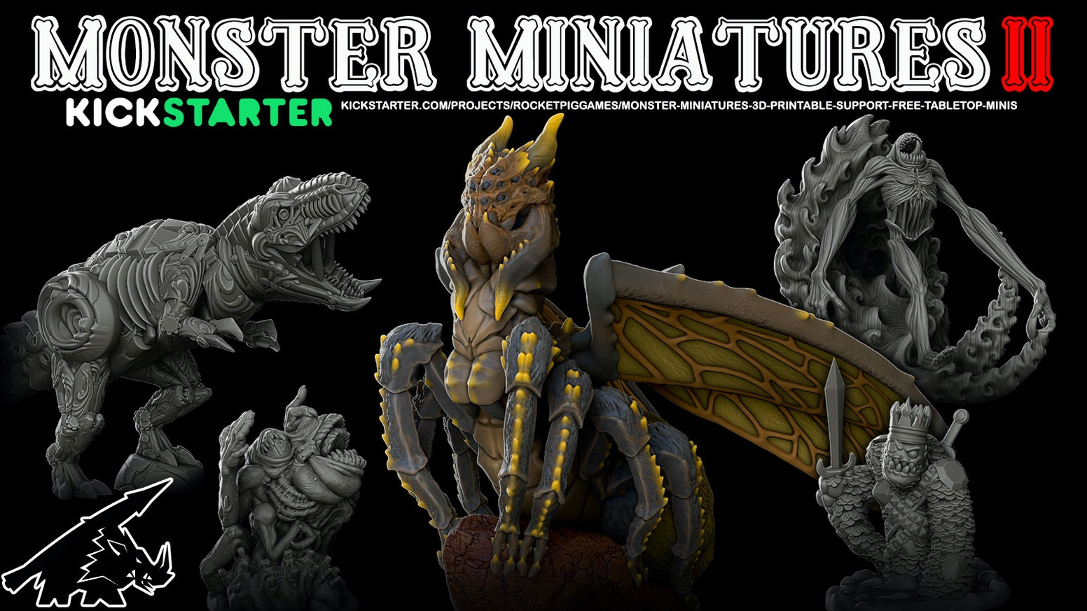 Monster Miniatures II are support-free 3d printable models for your tabletop.