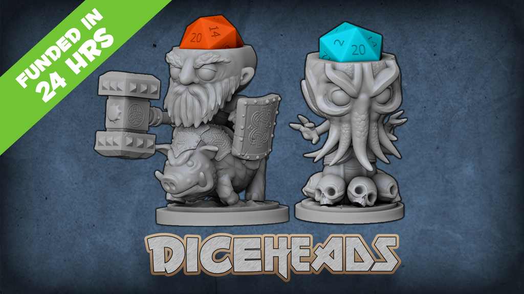Dice Heads: RPG Dice Holder Miniatures project video thumbnail