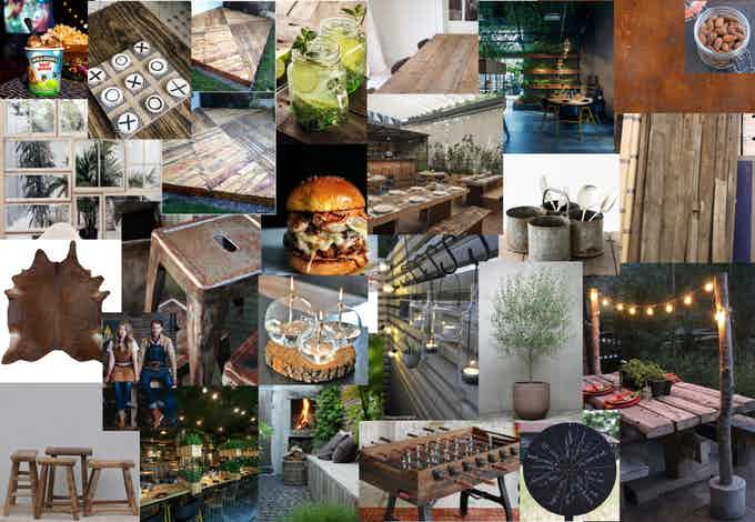 The first mood boards for WISSER // Bar & Burgers