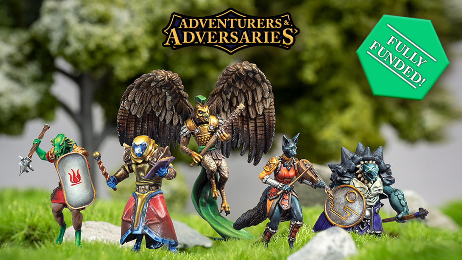 Adventurers & Adversaries Wave 2, Modular Resin Miniatures for DND, Pathfinder and other RPGs