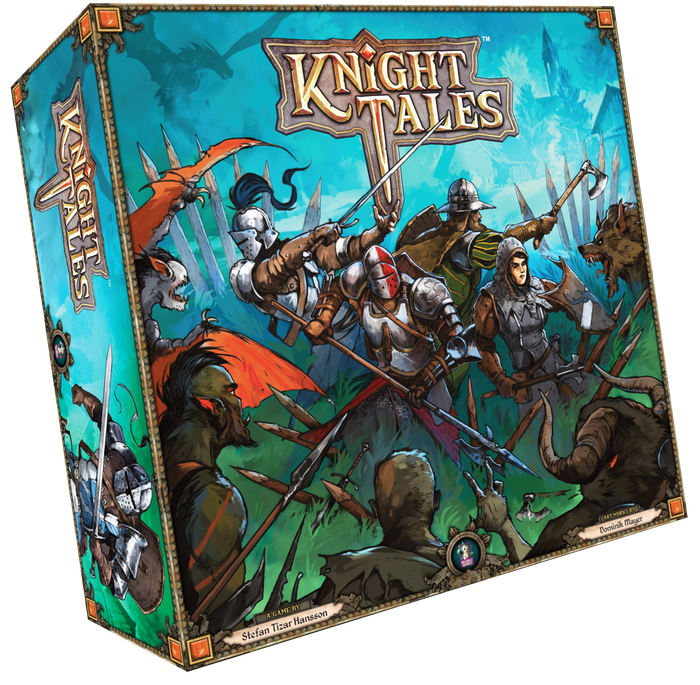 A clever genre-mix for 1-4 knights cooperatively or semi-cooperatively standing against the hordes of evil.