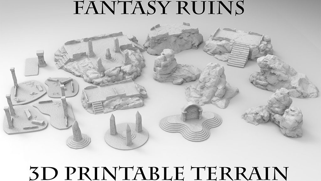 Project image for 3D Printable Fantasy Ruins