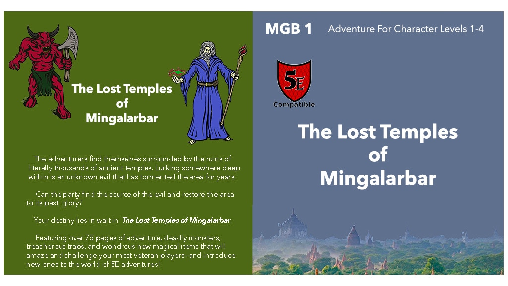 Project image for The Lost Temples of Mingalarbar (5E) (Canceled)
