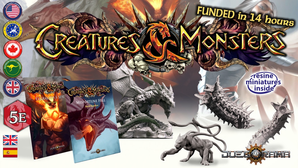 Creatures & Monsters: role-playing miniatures and adventures project video thumbnail