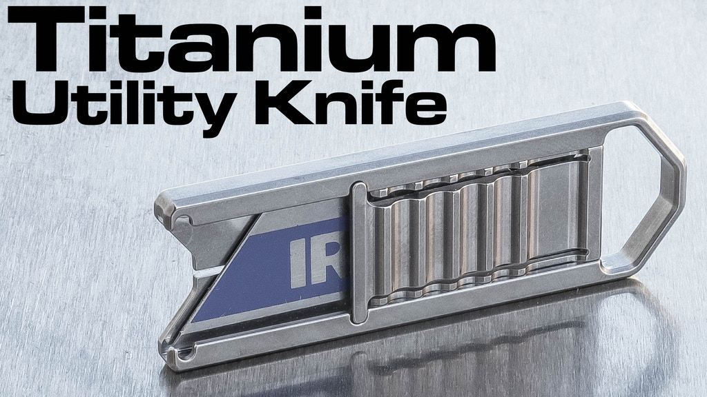 Titanium Utility Blade Knife - The SlideClick™ project video thumbnail