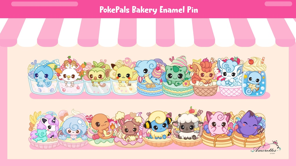 Project image for PokePals Bakery Enamel Pin
