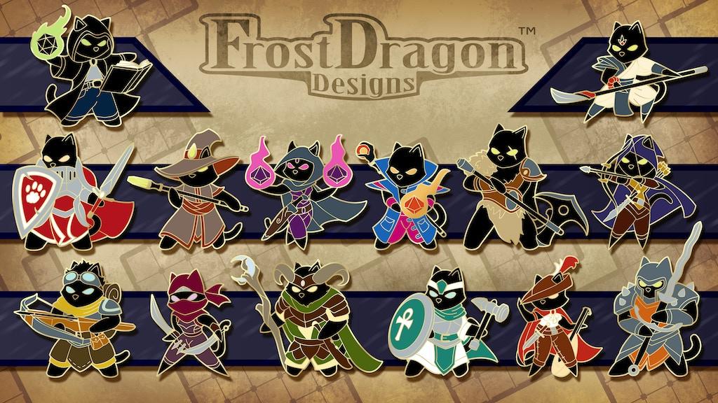 Project image for Black Cat RPG - Hard Enamel Pins