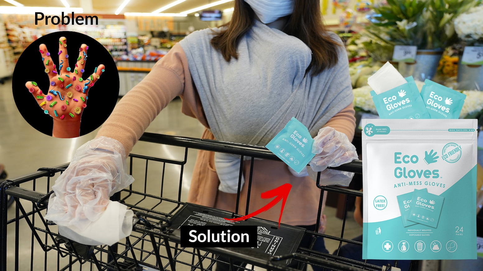Fight the spread of germs and viruses with individually packed eco-friendly gloves that you can take on the go!