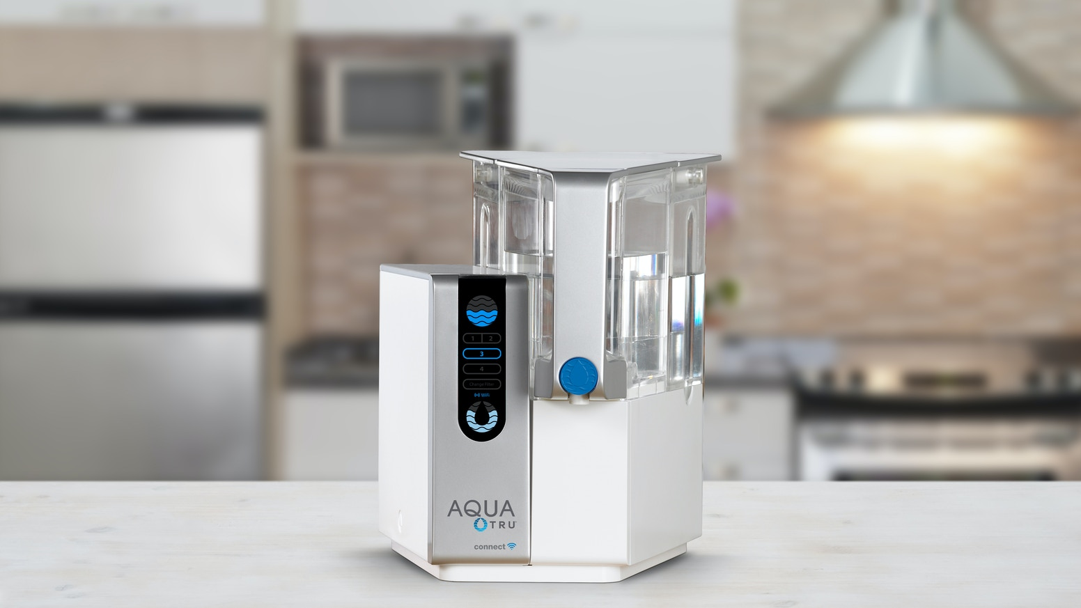 The smart, 4-stage water purifier certified to remove 82 harmful contaminants. Track water quality, filter life & plastic bottles saved