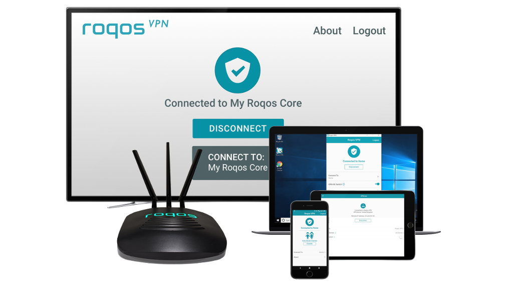 Protect yourself from internet outages and threats with Roqos cybersecurity router bundled with cellular data and VPN services