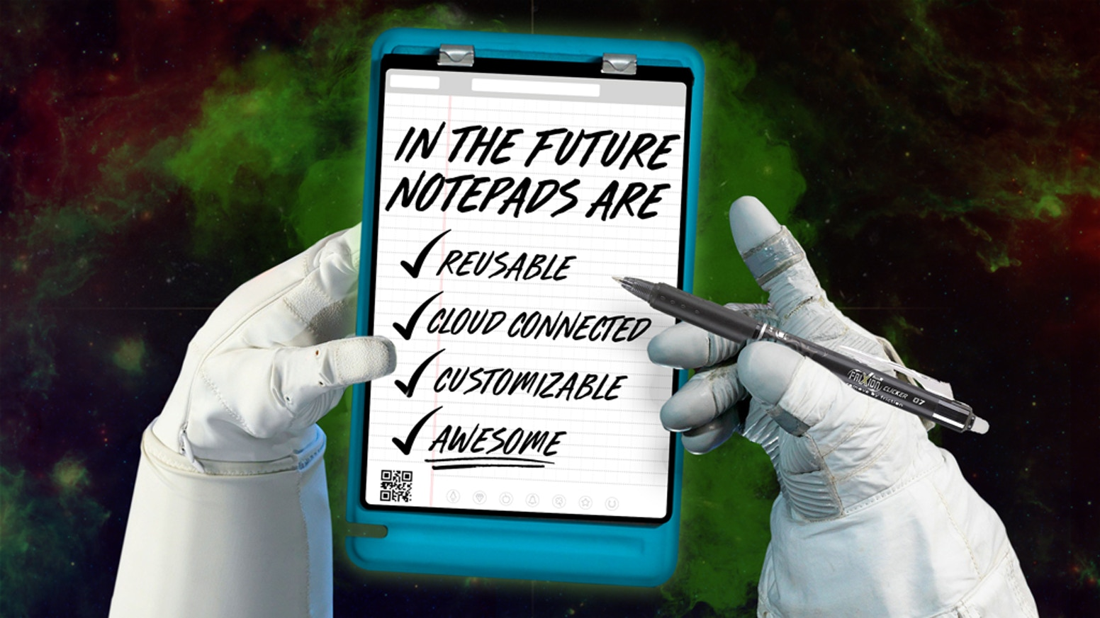 The pen and paper notepad of the future is reusable, customizable, modular, and connects with your favorite cloud services!
