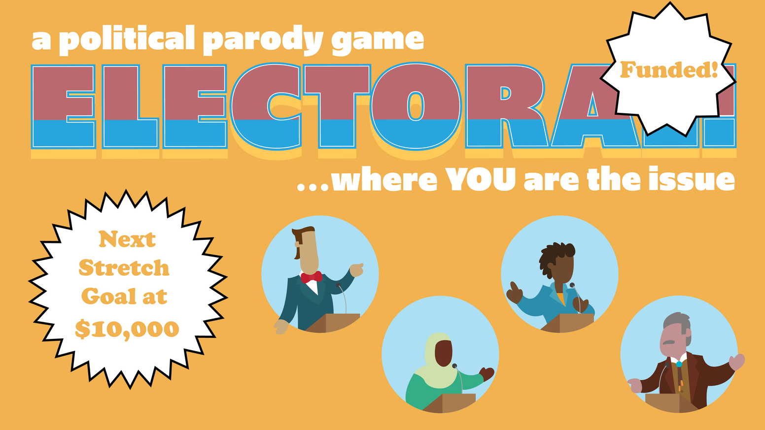 Identity politics for the politically exhausted. Electoral! is a good-natured, strategic and smart cultural parody that is equally perfect for boozy election night watch parties or random Thursday game night.