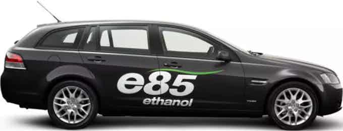E85 (or flex fuel) is a term that refers to high-level ethanol-gasoline blends containing 51% to 83% ethanol, depending on geography and season (see Fuel Properties and E85 Flex Fuel Specification). It can be used in flexible fuel vehicles (FFVs), which are available from domestic and foreign automakers. Ethanol can also be used for gas lamps and as preservatives.