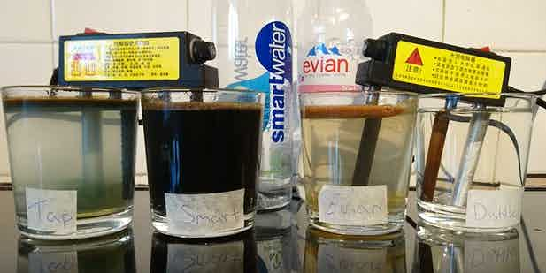 Click the image to view Youtube video of a test showing how clean tap water vs bottled water vs distilled water. Must Watch!