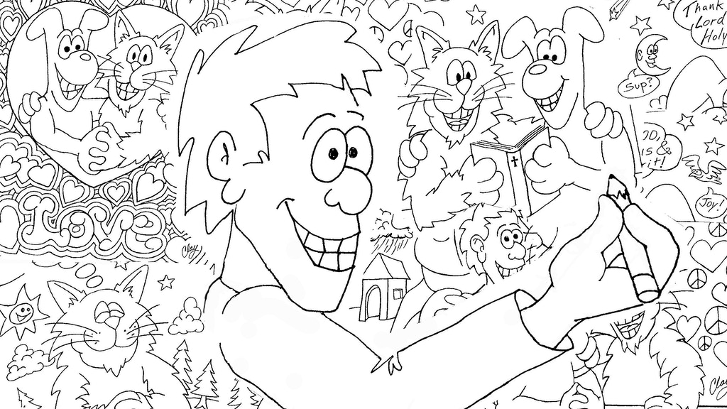 Bible Verse Cartoon Coloring Book by Karl Hoffman