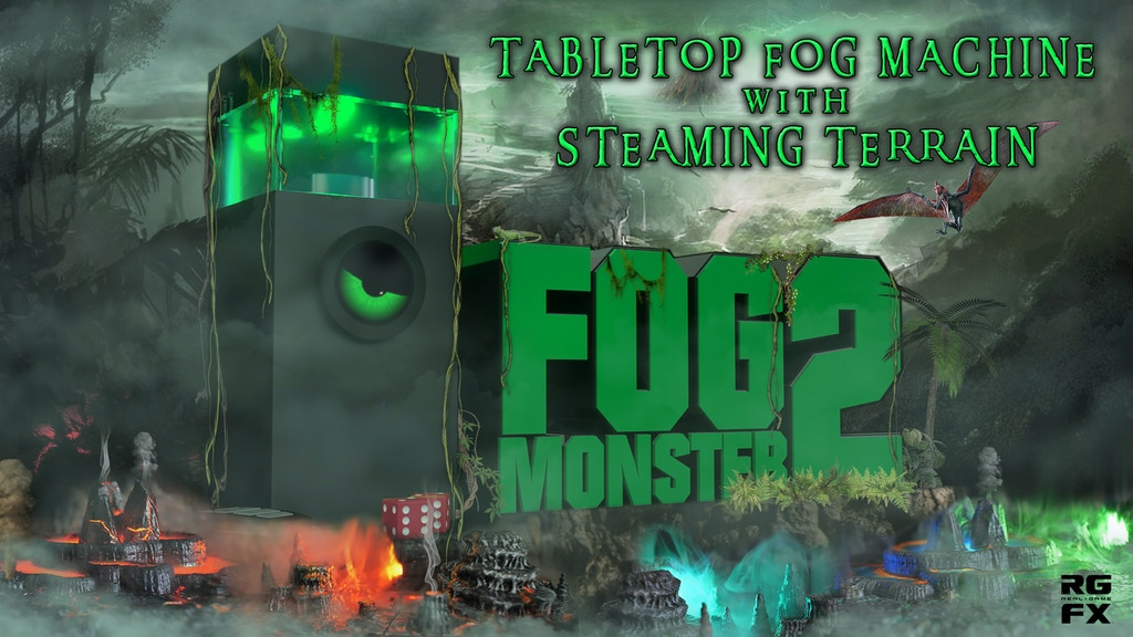 Fog Monster 2 Tabletop Fog Machine w/ New Steaming Terrain project video thumbnail