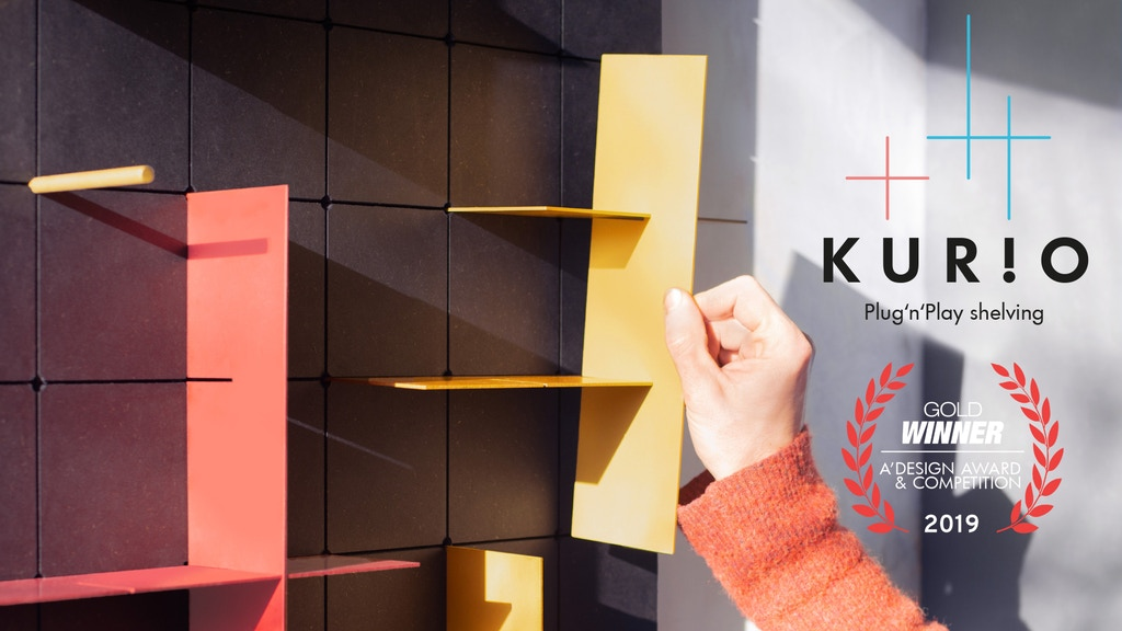 KUR!O — A plug'n'play shelving system project video thumbnail