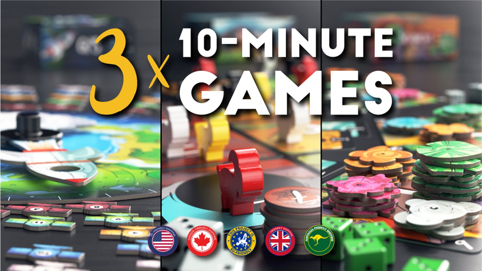 Three Small, 10-Minute Board Games