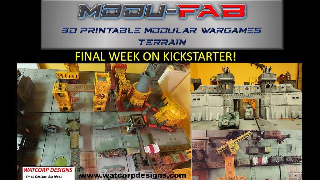 Modu-FAB - 3d Printable Wargames Terrain project video thumbnail