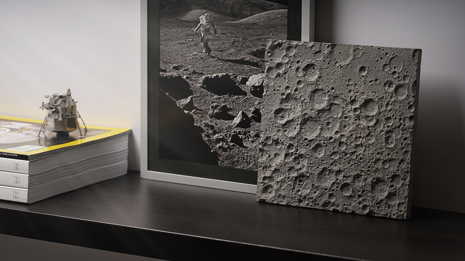 The moon has captured our hearts and imagination from the dawn of time. Now, you can bring its iconic surface down into your home.