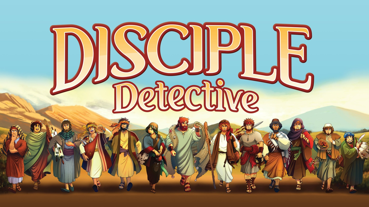A 2-4 player cooperative or competitive deduction game starring the Disciples. Cards in hand are hidden, use clues and logic to win!