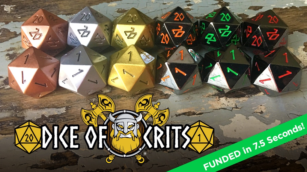 Norse Foundry Dice Of Crits Metal Crits One Roll At A Time By Norse Foundry Kickstarter Norse foundry set of 5 d6. kickstarter