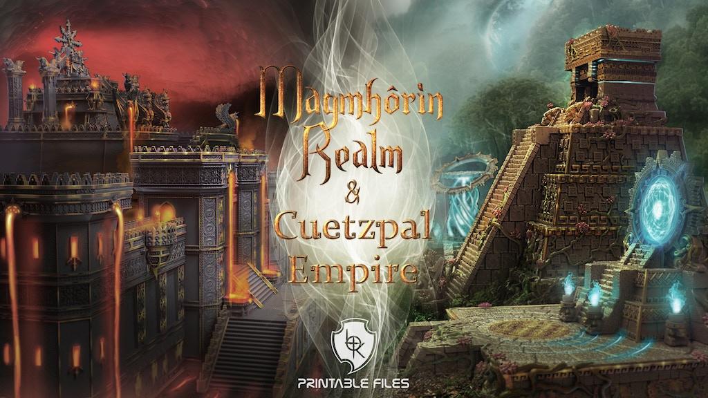 Imagen del proyecto para Magmhorin Realm & Cuetzpal Empire: Printable files