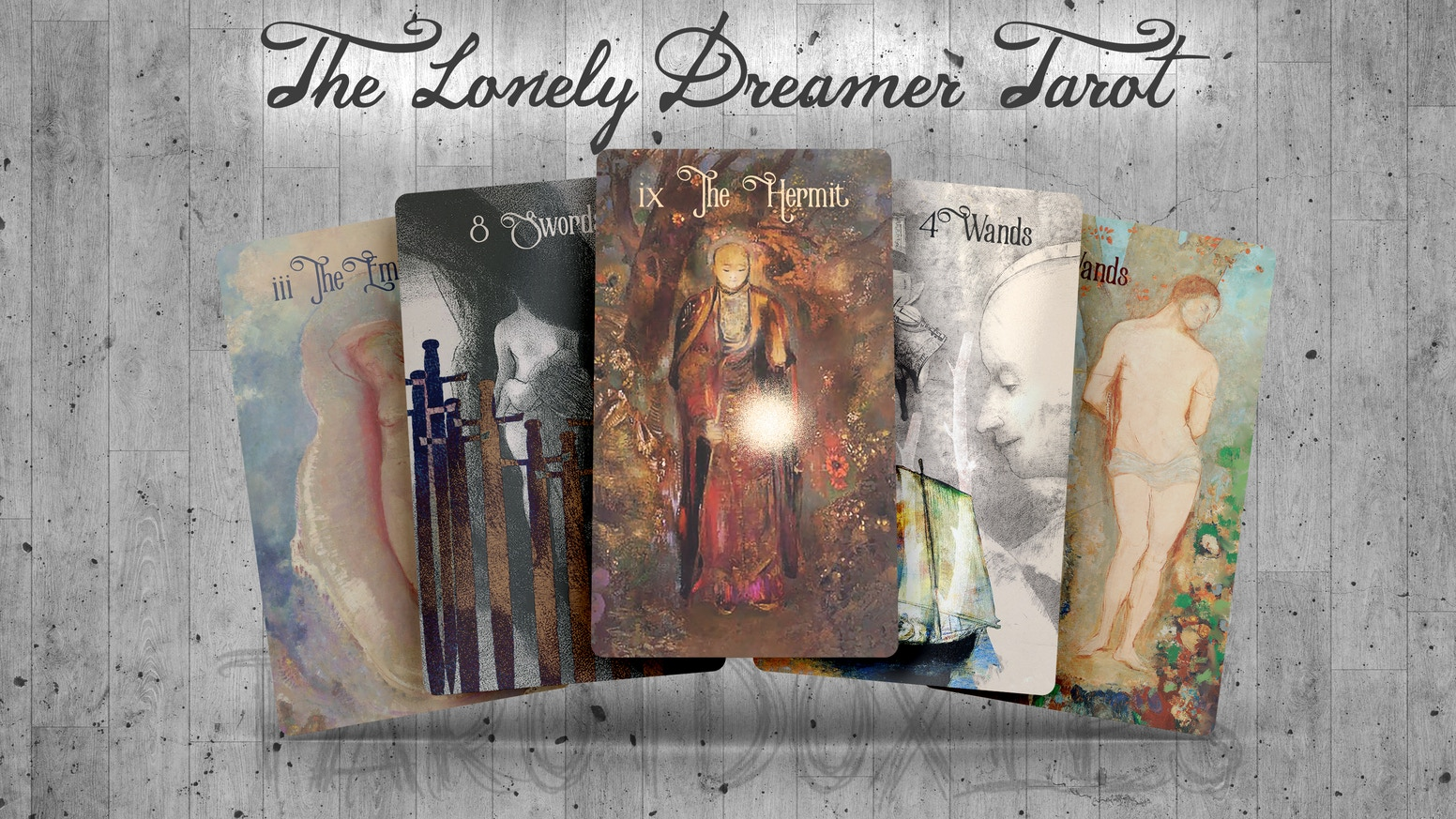"A tarot deck inspired by the work of symbolist artist Odilon Redon. A limited number of decks are now available for presale in my Etsy shop. Please click the ""Follow along!"" link below."