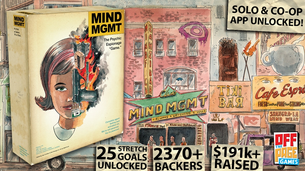 "MIND MGMT: The Psychic Espionage ""Game"" project video thumbnail"
