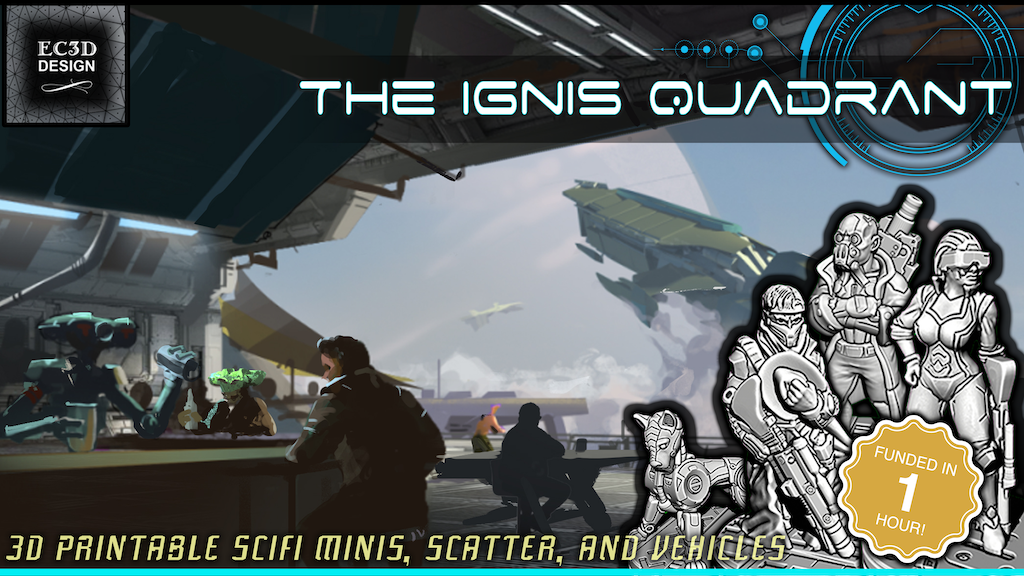 Project image for The Ignis Quadrant - 3D Printable Tabletop Models