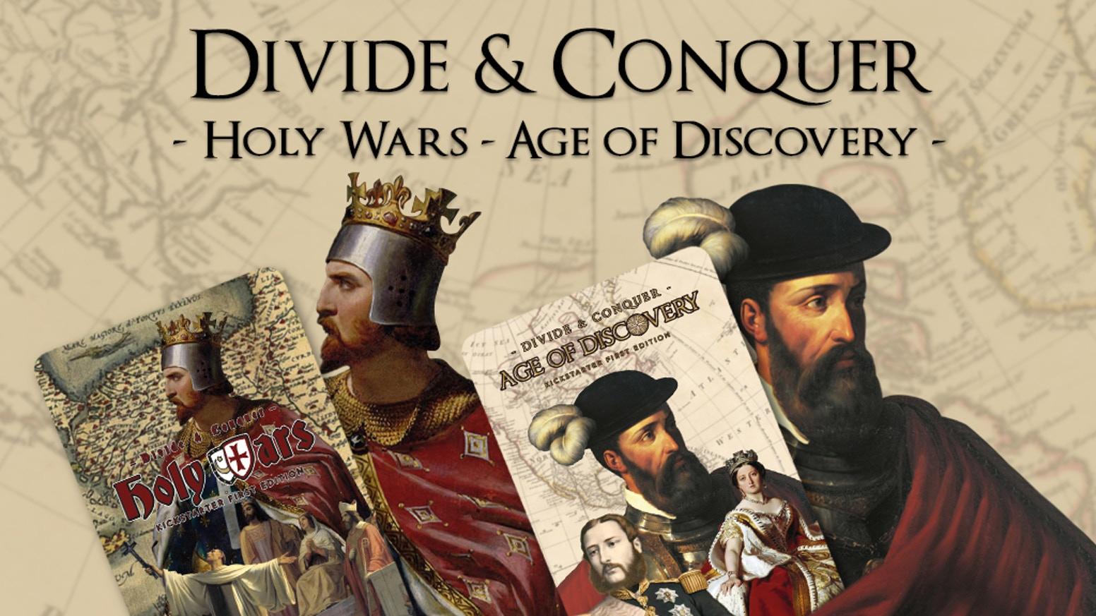 Holy Wars & Age of Discovery are part of the Divide & Conquer series of collectable card games by Alcázar Games.