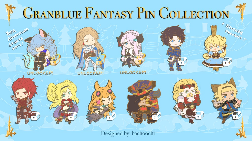 Granblue Fantasy Versus Pin Collection