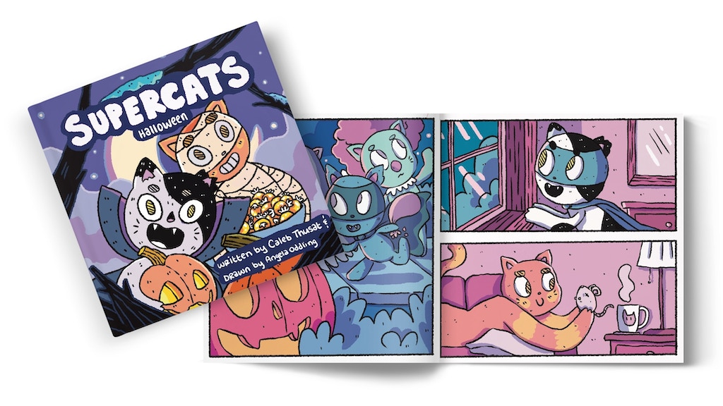 Supercats Halloween! A Children's Book / Kid's Comic Series project video thumbnail