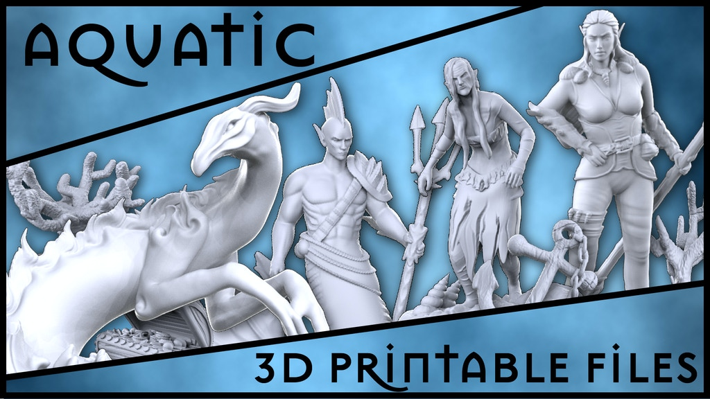 Aquatic Collection : 3D Printable Sculptures project video thumbnail