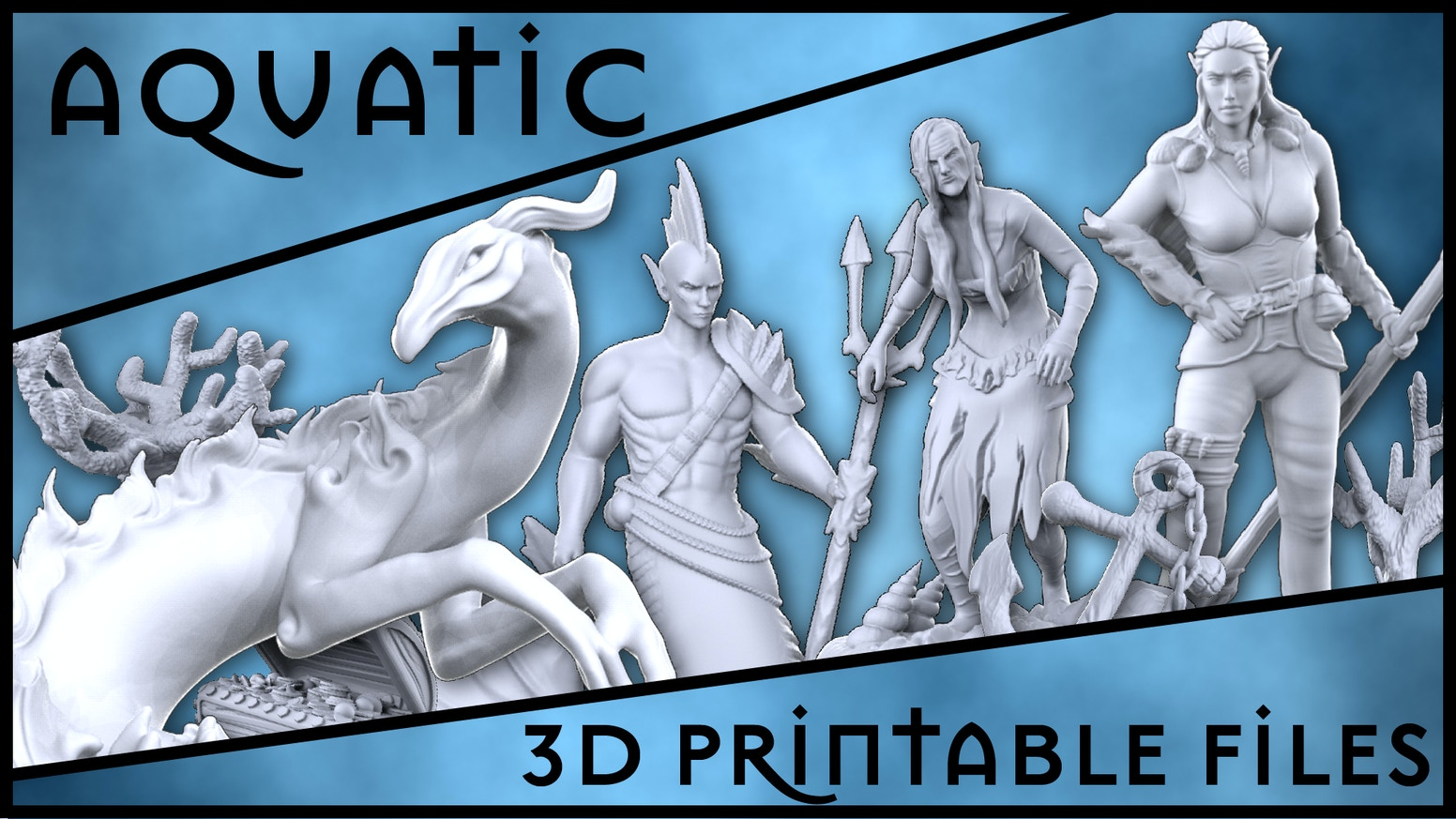 3D printable aquatic sculpts for tabletop campaigns