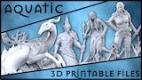 Aquatic Collection : 3D Printable Sculptures thumbnail