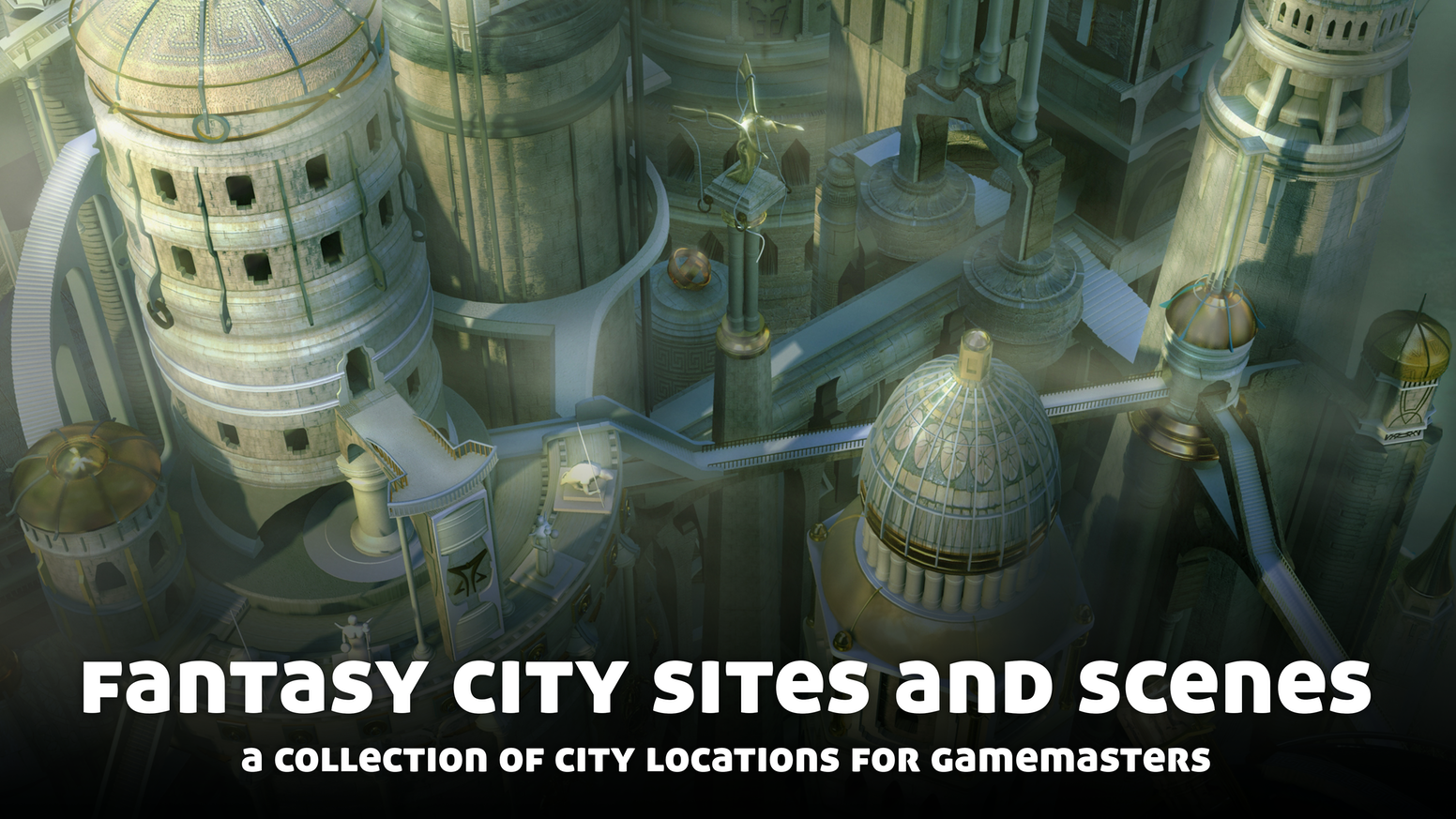 A guide for gamemasters. Includes sixteen different fantasy city locations, each ready to drop into your campaign.