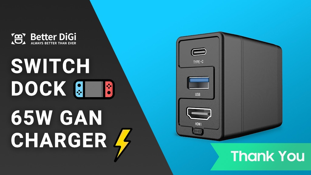 Dongii, Nintendo Switch Dock & 65W GaN Charger project video thumbnail