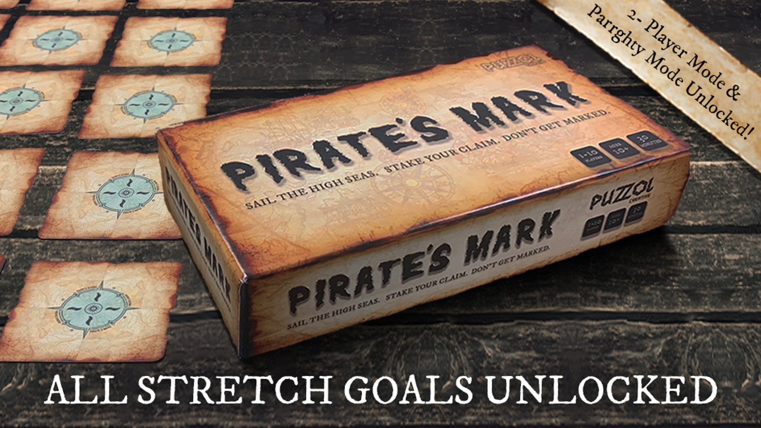 Sail the high seas. Stake your claim. Don't get marked. A thrilling party game for 3 to 10 players.