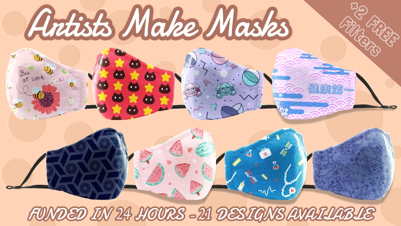 Staying cute and protected: Reusable washable 100% cotton face masks